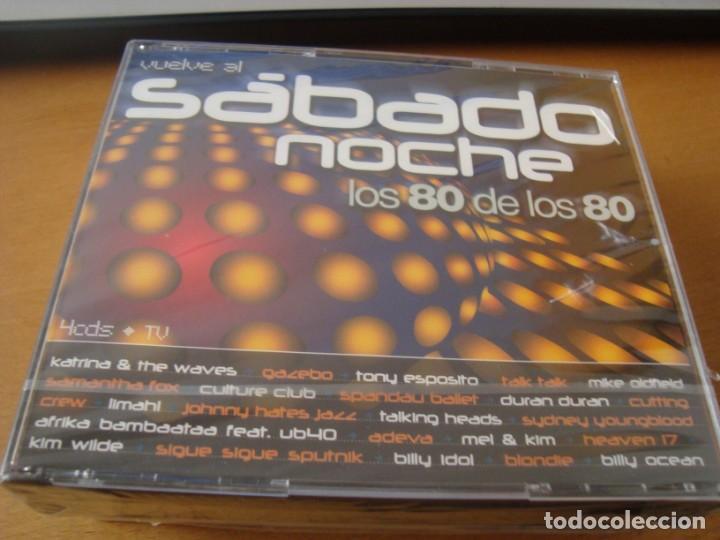 RAR 4 CD'S  SÁBADO NOCHE  LOS 80 DE LOS 80  GAZEBO, MIKE OLDFIELD, DURAN  DURAN