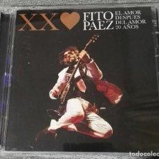 CDs de Música: FITO PAEZ EL AMOR DESPUES DEL AMOR 20 AÑOS CD + DVD EDICION ESPECIAL ROCK ARGENTINO. Lote 130937440