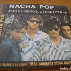 CDs de Música: RAR CD. NACHA POP. MAS NÚMEROS, OTRAS LETRAS. SEALED. PRECINTADO. . Lote 130959712