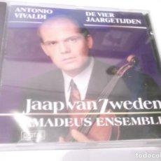 CDs de Música: CD - ANTONIO VIVALDI , DE VIER JAARGETIJDEN - JAAP VAN ZWEWDEN ,AMADEUS ENSEMBLE .MADE IN BELGIUM .. Lote 130960524