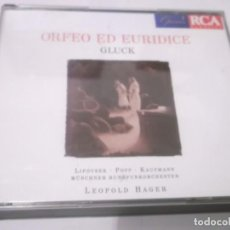 CDs de Música: 2 CDS - ORFEO ED EURIDICE , GLUCK - LEOPOLD HAGER .RCA .MADE IN THE E.U. . 1987. Lote 130962584