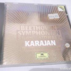 CDs de Música: CD - BEETHOVEN SYMPHONIEM 5 & 6 PASTORALE - KARAJAN ,BELINER PHILHARMONIKER . MADE IN UK.1984. Lote 130972416