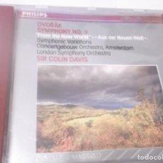 CDs de Música: CD - DVORÁK SYMPHONY NO.9 FROM THE NEW WORLD - LONDON SYMPHONY ORCHESTRA SIR COLIN DAVIS . Lote 130974748