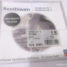 CDs de Música: CD - BEETHOVEN - SYMPHONIE NR.7 Y NR 8 - CHICAGO SYMPHONY ORCHESTRA - SIR GEORG SOLTI . Lote 130976436