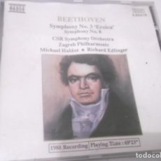 CDs de Música: CD - BEETHOVEN-SYMPHONIES NOS.3 & 8.CSR SYMPHONY ORCHESTRA -MICHAEL HALASZ- ZAGREB-RICHARD EDLINGER . Lote 130976692