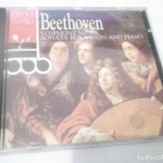 CDs de Música: CD - BEETHOVEN - SYMPHONY NO.7 SONATA FOR VIOLIN AND PIANO -RADIO SYMPHONY ORCHESTRA LJUBLJANA. Lote 130977348