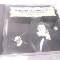CDs de Música: CD - SCHUBERT - SYMPHONIE NO.9 -CHICAGO SYMPHONY ORCHESTRA - JAMES LEVINE . Lote 130977476
