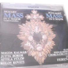 CDs de Música: CD - MOZART- MASS IN C MAJOR-SCHUBERT - MASS IN G MAJOR -SLOVAK SYMPHONY ORCHESTRA - JANOS FERENCSIK. Lote 130977720