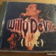 CDs de Música: RAR CD. WILLY DEVILLE. LIVE. FNAC. MADE IN ITALY. Lote 130982432