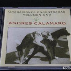 CDs de Música: ANDRÉS CALAMARO - GRABACIONES ENCONTRADAS VOLUMEN UNO - CD. Lote 130984296