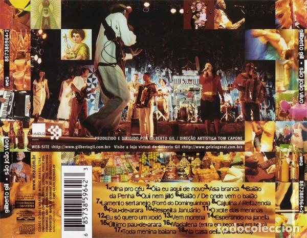 CDs de Música: Gilberto Gil – São João Vivo (EU, 2001) - Foto 2 - 131015660