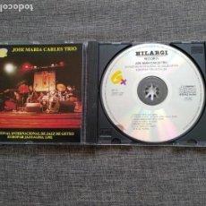 CDs de Música: CD JOSE MARIA CARLES TRIO - XVI FESTIVAL DE JAZZ GETXO - EUROPAR JAZZALDIA 1992. Lote 131175704