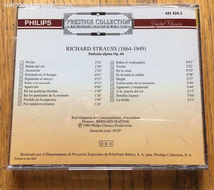 CDs de Música: R.STRAUSS, Sinfonia Alpina, Bernard Haitink, Prestige Collection Numero 177 - Foto 2 - 131429246