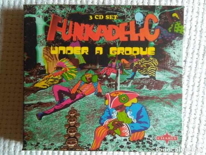 FUNKADELIC - '' ONE NATION UNDER A GROOVE - UNCLE JAM ... + 2 '' 3 CD + BOOKLET BOX SET 2003 UK (Música - CD's Jazz, Blues, Soul y Gospel)