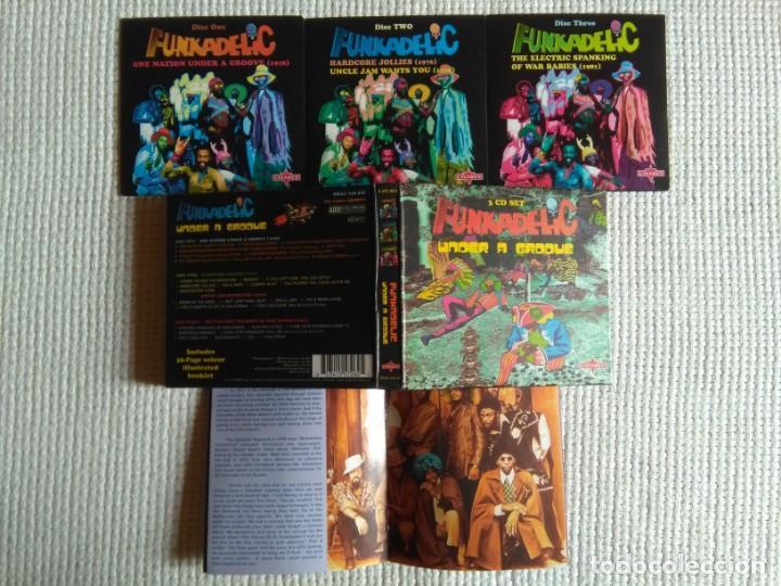 CDs de Música: FUNKADELIC - ONE NATION UNDER A GROOVE - UNCLE JAM ... + 2 3 CD + BOOKLET BOX SET 2003 UK - Foto 2 - 131494366
