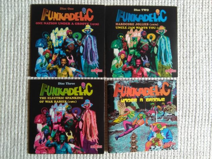 CDs de Música: FUNKADELIC - ONE NATION UNDER A GROOVE - UNCLE JAM ... + 2 3 CD + BOOKLET BOX SET 2003 UK - Foto 3 - 131494366