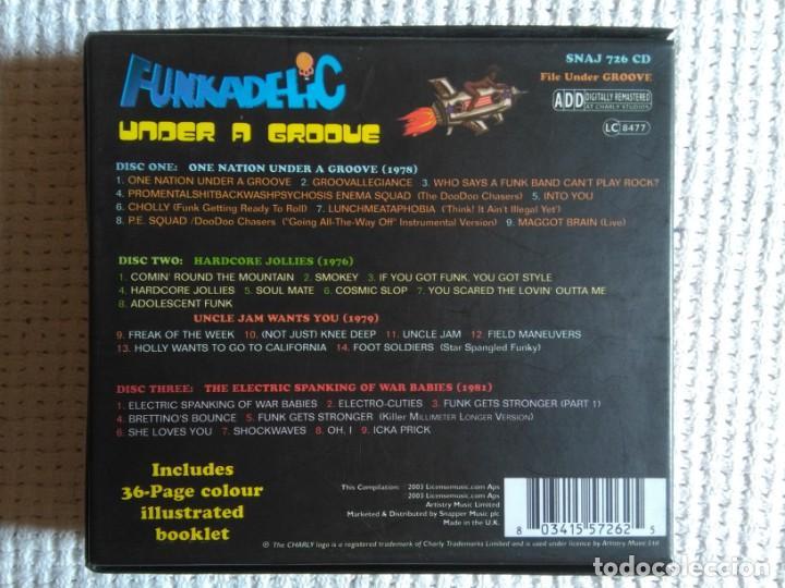 CDs de Música: FUNKADELIC - ONE NATION UNDER A GROOVE - UNCLE JAM ... + 2 3 CD + BOOKLET BOX SET 2003 UK - Foto 5 - 131494366