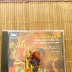 CDs de Música: GOLDMARK, STRING QUARTET, OP. 8; STRING QUINTET, OP. 9, FOURTH DIMENSION QUARTET ASV. Lote 131548574