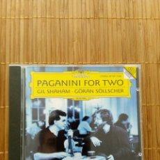 CDs de Música: CD PAGANINI FOR TWO, GIL SHAHM GORAN SÖLLSCHER, VIOLIN GUITARRA SONATAS. Lote 131549674