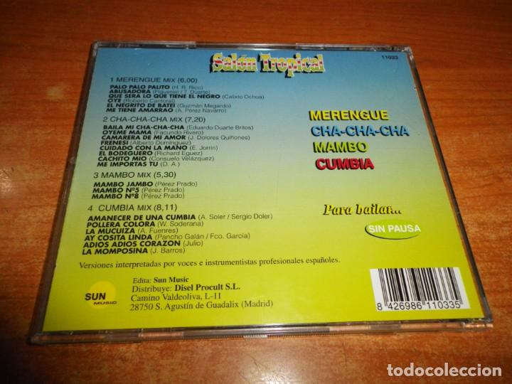 CDs de Música: SALON TROPICAL MUSICA DE BAILES DE SALON CD ALBUM 1997 MAMBO MIX PEREZ PRADO CUMBIA MIX CHA-CHA-CHA - Foto 2 - 131574174