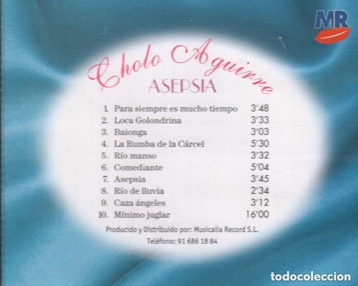 CDs de Música: CHOLO AGUIRRE - ASEPSIA CD ALBUM 1998 RF-1155, BUEN ESTADO - Foto 2 - 131695550