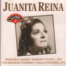 CDs de Música: JUANITA REINA - LA COPLA 2 / CD ALBUM PERFIL DE 1991 RF-1159 , BUEN ESTADO. Lote 210778036