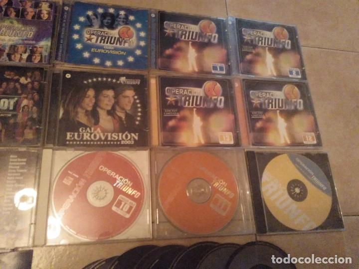 CDs de Música: LOTAZO 24 CDS OPERACION TRIUNFO MIRAR DESGLOSE EN INTERIOR - Foto 3 - 131743782