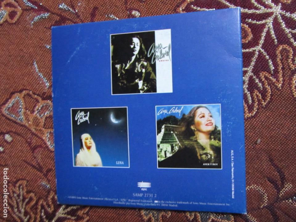 CDs de Música: ANA GABRIEL MAXI-CD- TITULO LO MEJOR- CON 6 TEMAS- ORIGINAL DEL 95- Y TOTALMENTE NUEVO - Foto 2 - 131749526