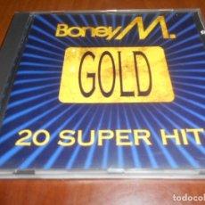 CDs de Música: BONEY M.-20 SUPER HITS-GOLD. Lote 131797750