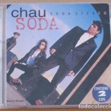 CDs de Música: SODA STEREO - CHAU SODA (2CD) 1997 - 30 TEMAS - ARGENTINA - CD1 RAJADO. Lote 131938758