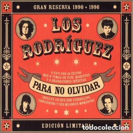 LOS RODRIGUEZ PARA NO OLVIDAR 2 CD + DVD INEDITOS TEMAS INCLUIDOS (Música - CD's Rock)
