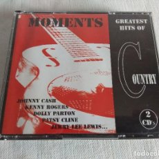CDs de Música: PACK 2 CD'S/THE GREATEST HITS OF COUNTRY/MOMENTS.. Lote 131997438