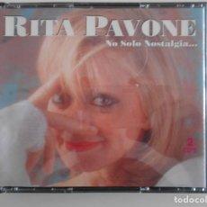 CDs de Música: RITA PAVONE. NO SOLO NOSTALGIA... DOBLE COMPACTO CON 20 CANCIONES.. Lote 131998694