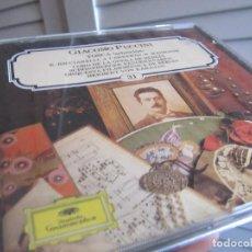CDs de Música: PUCCINI TOSCA SALVAT 31. Lote 132003030