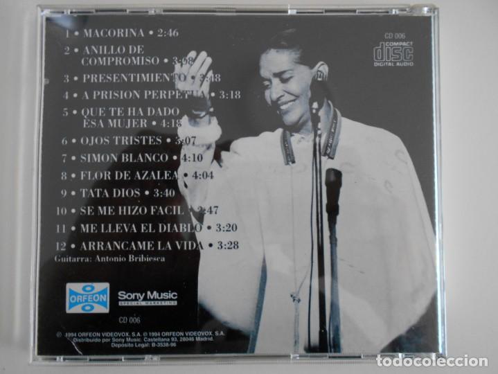 CDs de Música: CHAVELA VARGAS. NOCHE BOHEMIA. COMPACTO CON 12 CANCIONES. - Foto 2 - 132003710