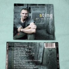 CDs de Música: CD STING - ALL THIS TIME. Lote 132023166