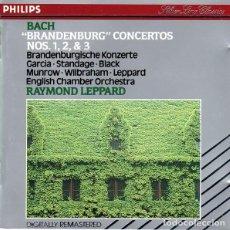 CDs de Música: BACH / LEPPARD - BRANDENBURG CONCERTOS NOS. 1, 2 & 3 - CD. Lote 132106338