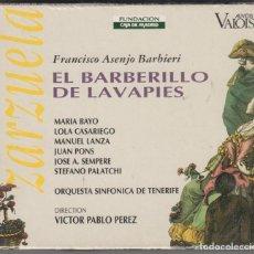 CDs de Música: EL BARBERILLO DE LAVAPIES CD ZARZUELA 1995 VÍCTOR PABLO INCLUYE LIBRO CON DIÁLOGOS E HISTORIA. Lote 132151142