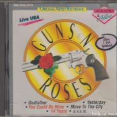 CDs de Música: GUNS'N'ROSES CD LIVE USA 1988-1991 12 TRACKS. Lote 132152386