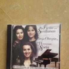 CDs de Música: DE FIESTA POR SEVILLANAS CON PAREJA - OBREGÓN Y LAS HERMANAS SORIA (CD). Lote 132209305