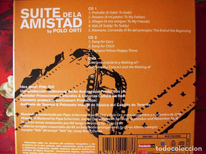 CDs de Música: POLO ORTI.SUITE DE LA AMISTAD.JAZZ/CLASICA FUSION CON GARY BURTON Y JORGE PARDO.2 CD´S + DVD.DIFICIL - Foto 2 - 132215118