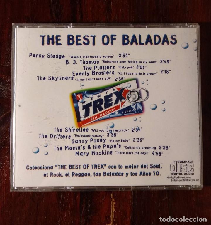 CDs de Música: THE BEST OF TREX BALADAS - CD PROMOCIONAL DE ANTIGUOS CHICLES TREX - BALADAS MUSIC - Foto 2 - 132235714