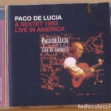 CDs de Música: PACO DE LUCA & SEXTET 1993 - LIVE IN AMERICA (CD) 2005 - 8 TEMAS. Lote 132342830