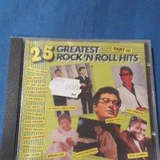 CDs de Música: CD 25 GREATEST ROCK'N ROLL HITS PARTE 3. Lote 132434010