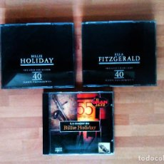 CDs de Música: BILLIE HOLIDAY + ELLA FITZGERALD (THE GOLD COLLECTION) + REGALO LO MEJOR DE BILLIE HOLIDAY. Lote 132509138