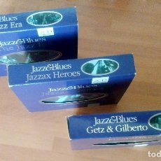 CDs de Música: LOTE COLECCION JAZZ & BLUES (GETZ & GILBERTO + JAZZAX HEROES + THE JAZZ ERA) - 2 CDS C/U - MUY RAROS. Lote 132510550