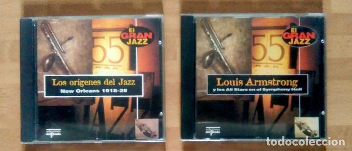 LOTE EL GRAN JAZZ (LOS ORÍGENES DEL JAZZ + REGALO LOUIS ARMSTRONG) - ED DEL PRADO 1995 (Música - CD's Jazz, Blues, Soul y Gospel)