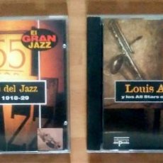 CDs de Música: LOTE EL GRAN JAZZ (LOS ORÍGENES DEL JAZZ + REGALO LOUIS ARMSTRONG) - ED DEL PRADO 1995. Lote 132550706
