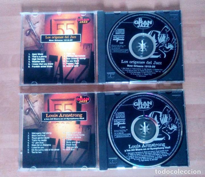 CDs de Música: LOTE EL GRAN JAZZ (LOS ORÍGENES DEL JAZZ + REGALO LOUIS ARMSTRONG) - ED DEL PRADO 1995 - Foto 2 - 132550706