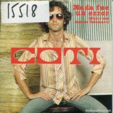 CDs de Música: COTI CON ANDRES CALAMARO / NADA FUE UN ERROR (CD SINGLE CARTON PROMO 2002). Lote 132623762